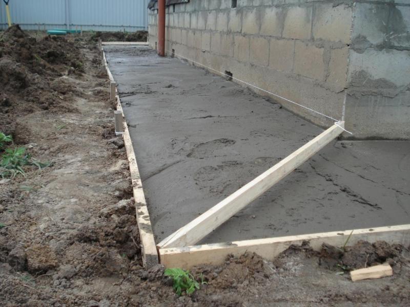 Как сделать отмостку вокруг дома из бетона? (часть 1)