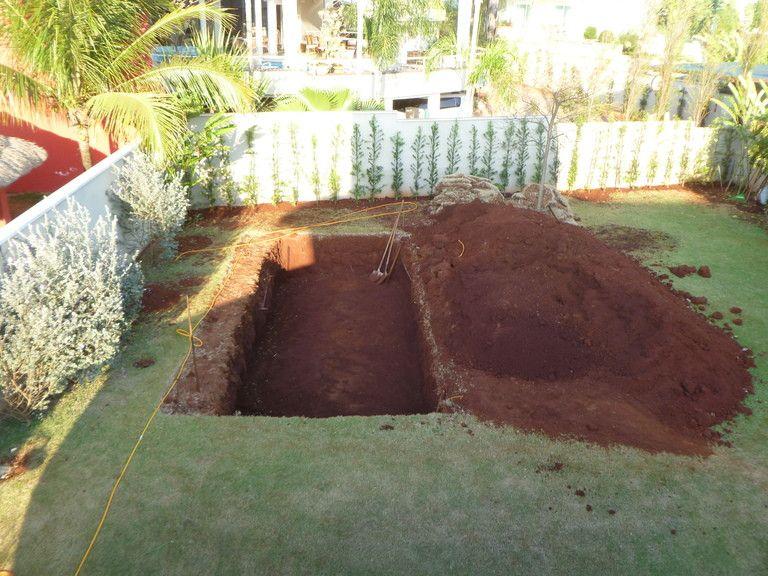 Бассейн вырытый на участке фото мини