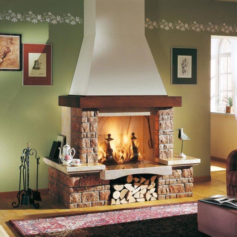 Камины для дома дровяные проекты фото