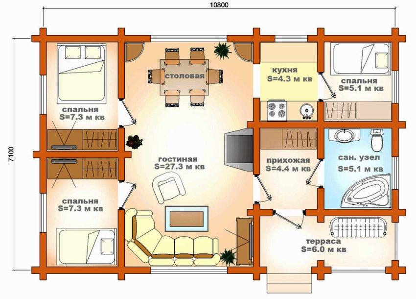 Размер загородного дома