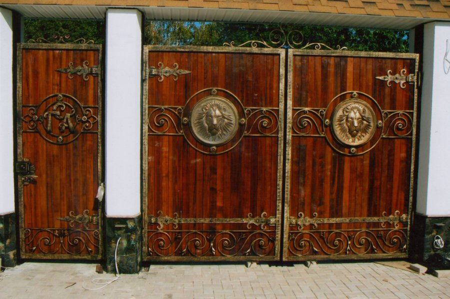 Металлические ворота - 2 вариант